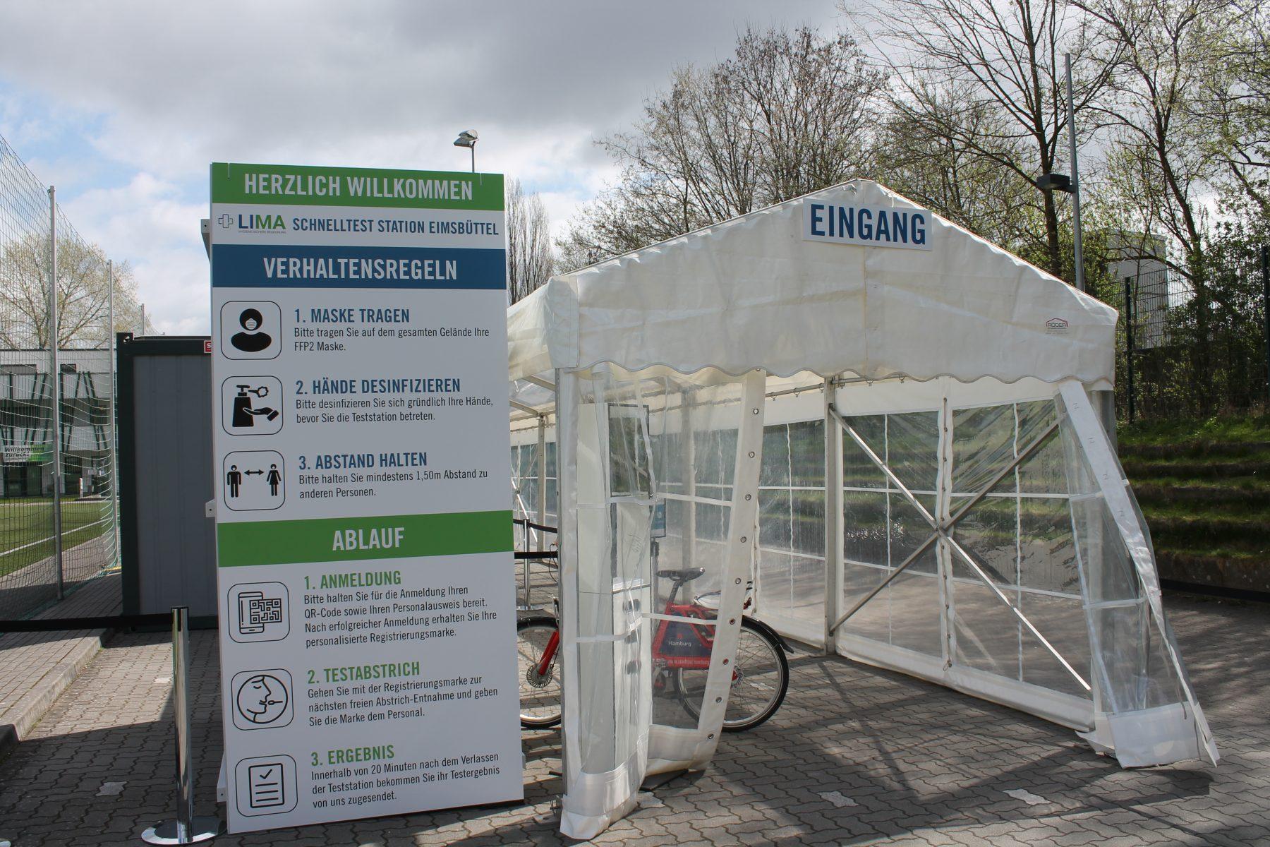 Testzentrum Grün-Weiss Eimsbuettel Fahrrad