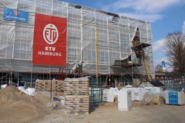 Das neue Sportzentrum des ETV entsteht im Lokstedter Steindamm.