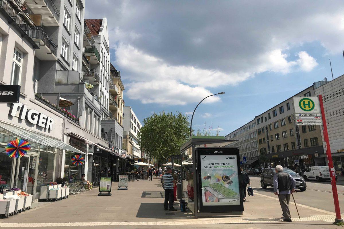 Osterstraße begrünte Haltestelle