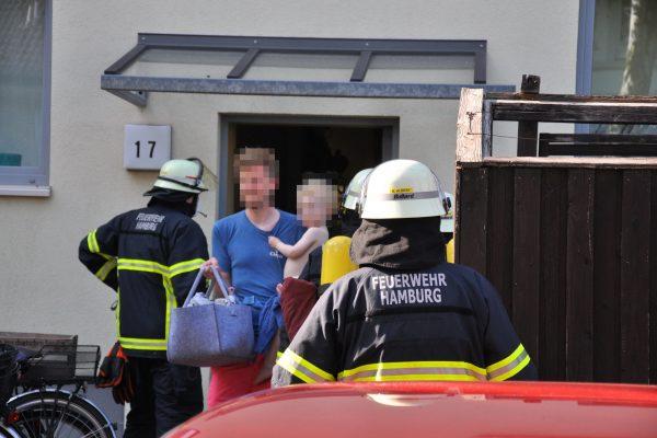 Evakuierung Stellingen Wieckstraße Feuerwehr