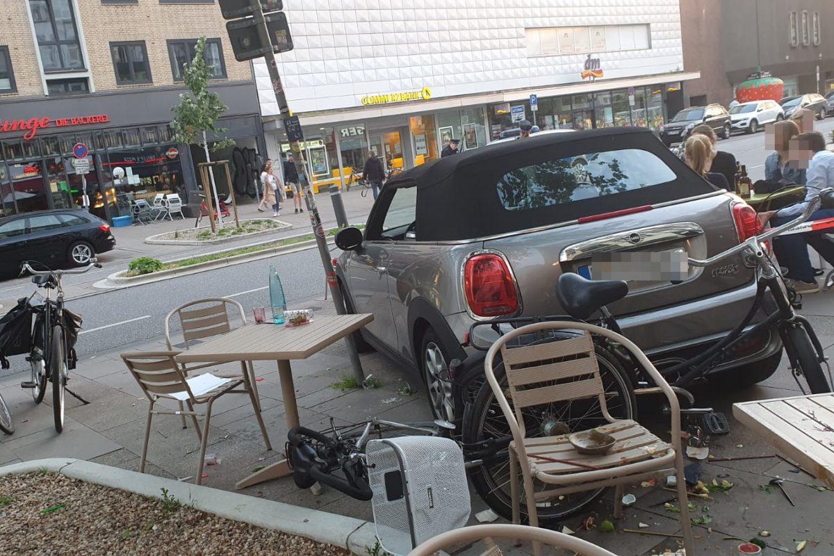 Unfall Osterstraße Restaurant Außengastronomie