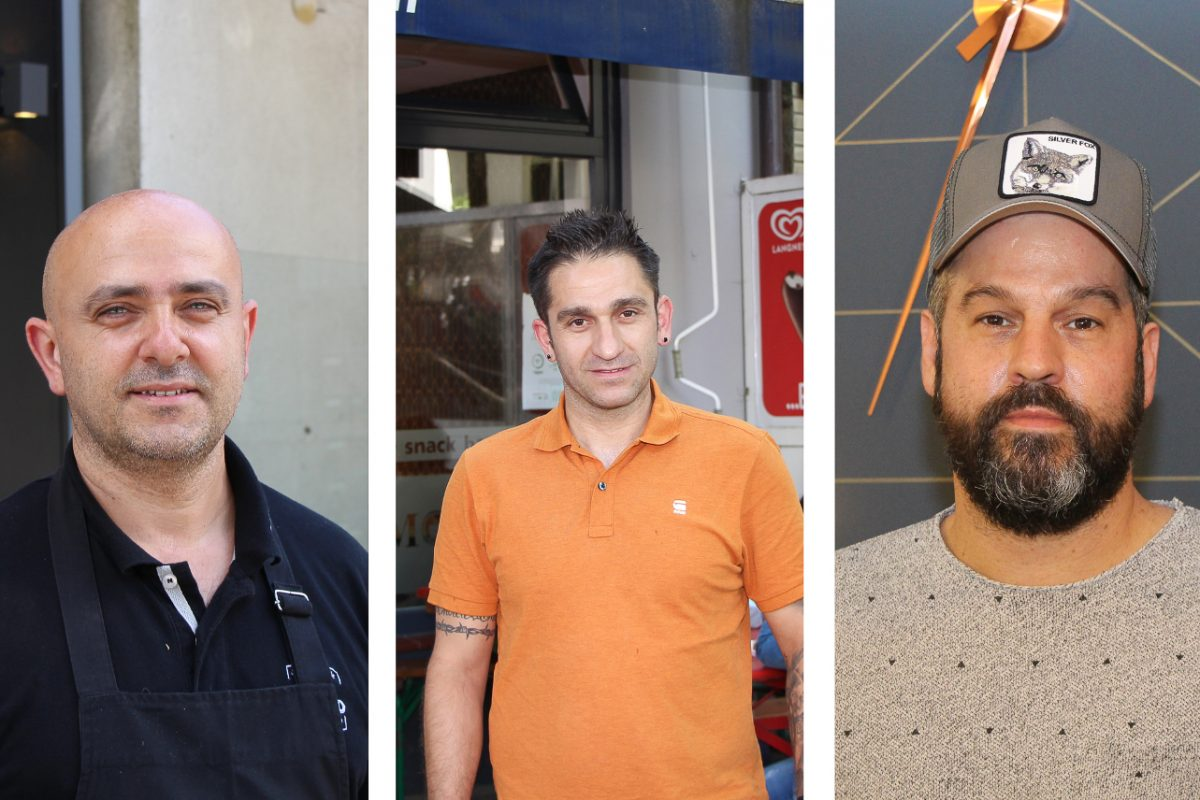 Drei Ladeninhaber aus Eimsbüttel erzählen von ihrer portugiesisch-hamburgischen Geschichte. Foto: Julia Haas