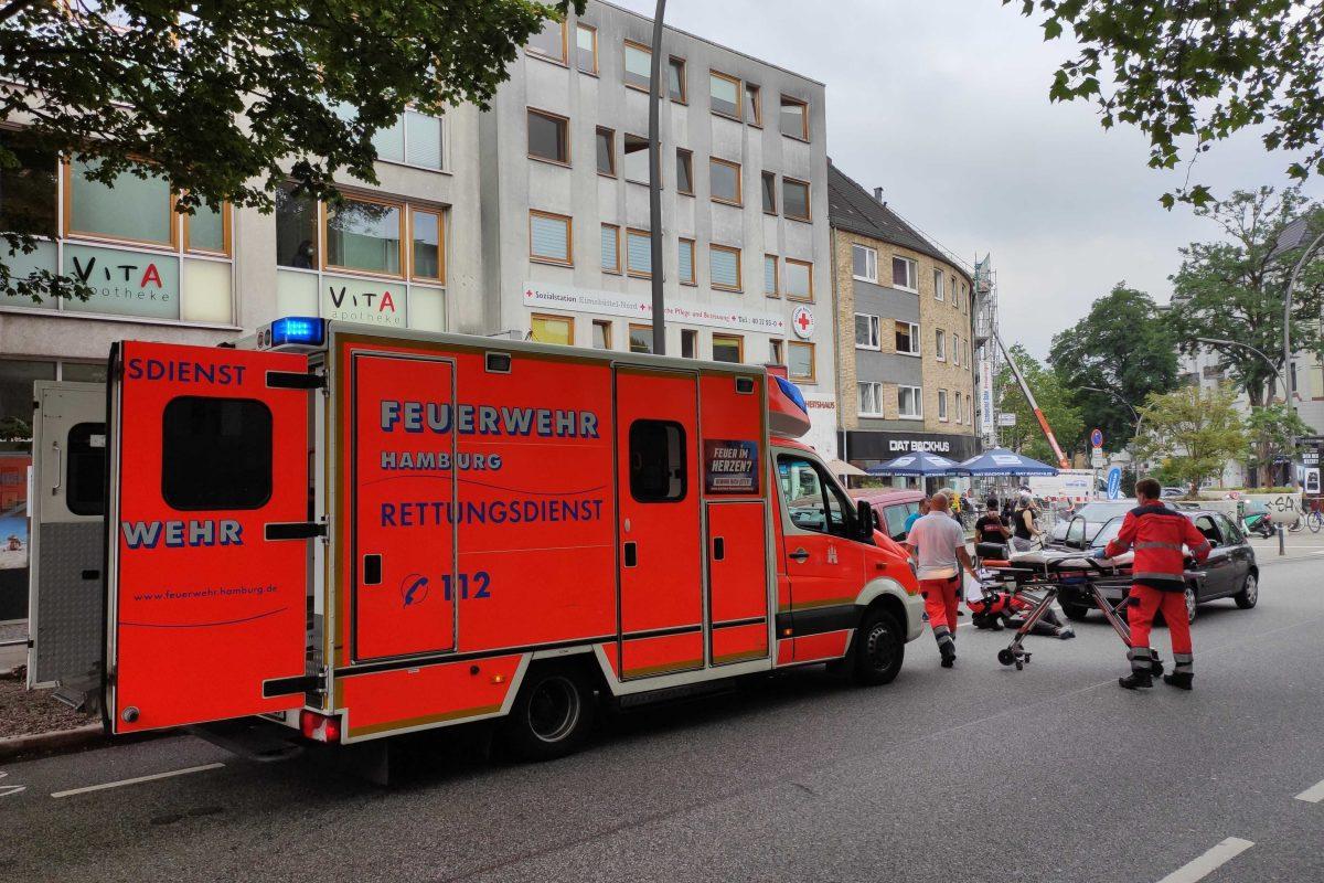 Unfall Heussweg Nissan Karl-Schneider-Passagen Hamburg Eimsbuettel