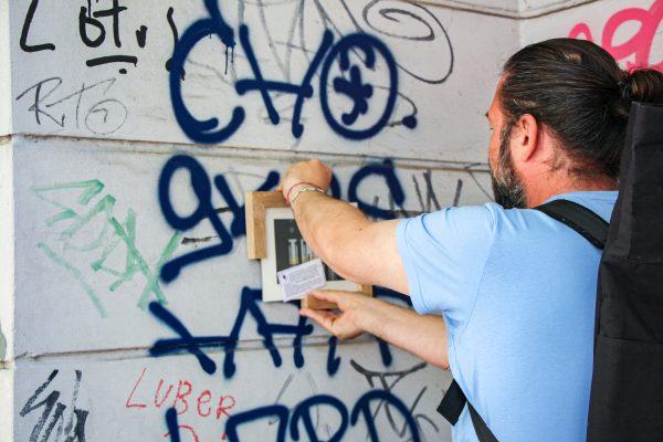 Framespotting: Streetart, die nicht lange auf der Straße bleibt. Foto: Alana Tongers