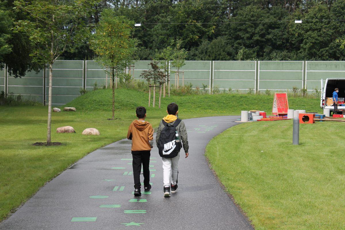 Am Freitag öffnete die Aktivzone Hörgensweg - sie bietet Kindern und Jugendlichen Platz zum Bewegen und Spielen. Foto: Julia Haas