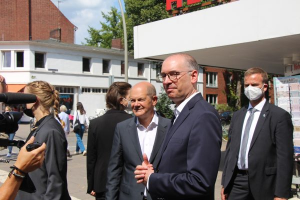 Olaf Scholz Osterstrasse Bundestagswahl Hamburg Eimsbuettel