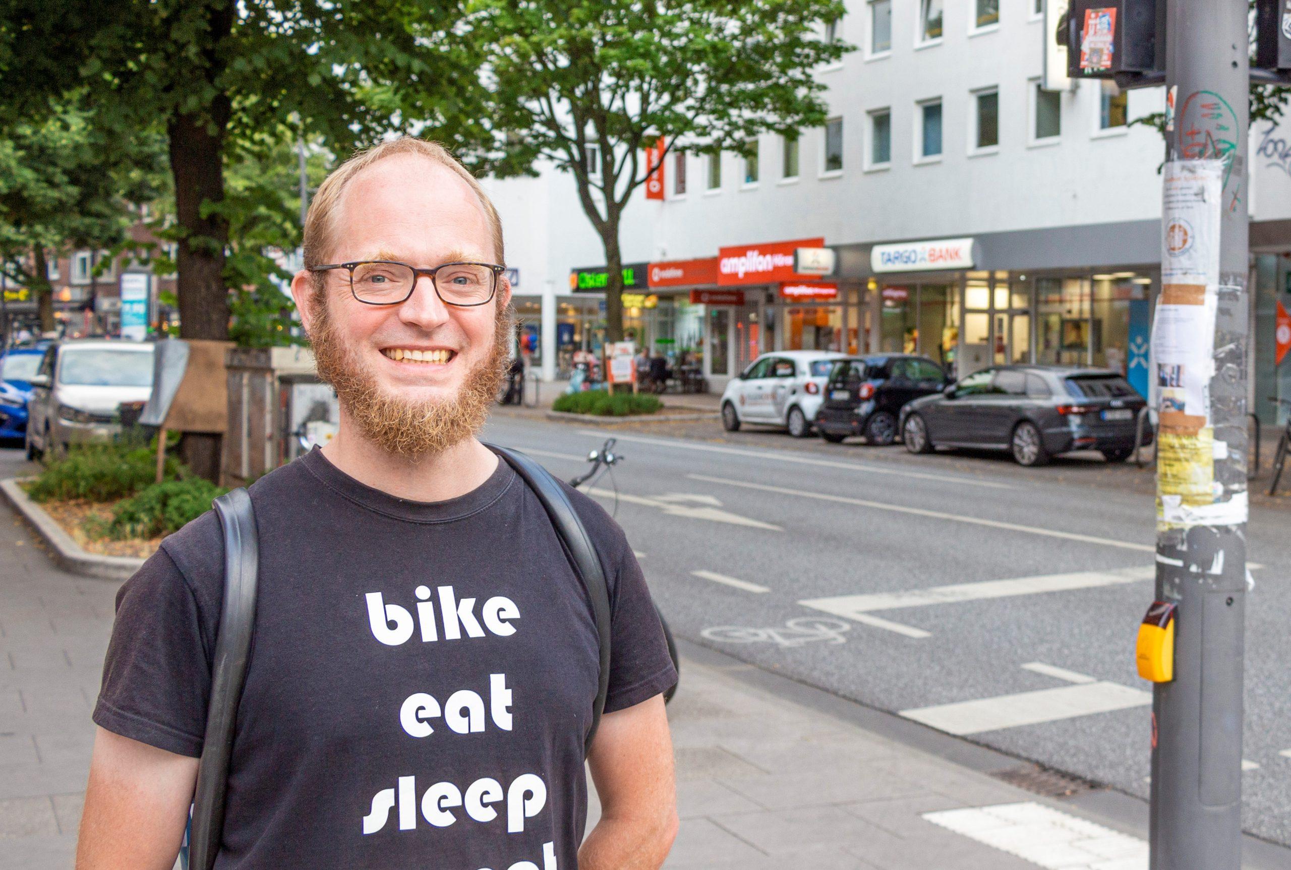 Jens Deye (42) engagiert sich beim ADFC.