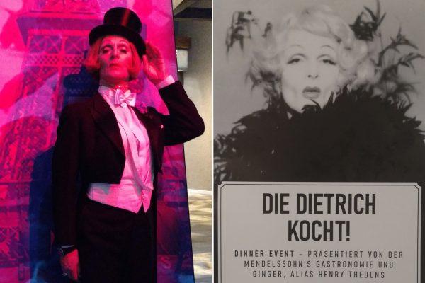 """""""Die Dietrich kocht!"""" - das Dinner-Event mit Henry Thedens alias Marlene Dietrich."""